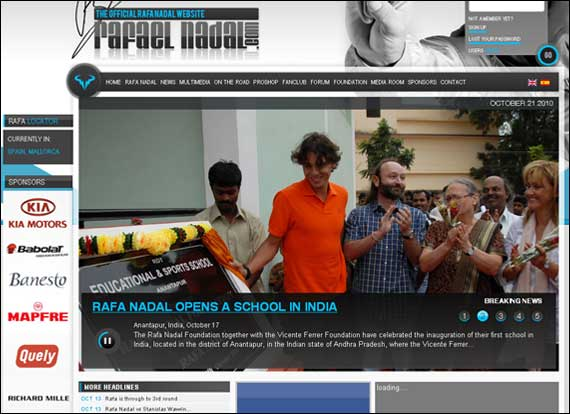 Screenshot Rafaelnadal Tennis