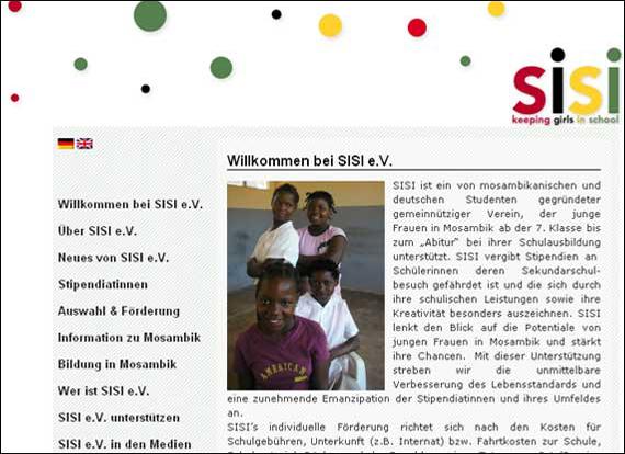 Scrennshot sisi, mosambikanischen und deutschen