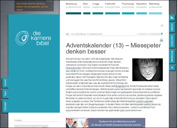 Screenshot karrierebibel.de