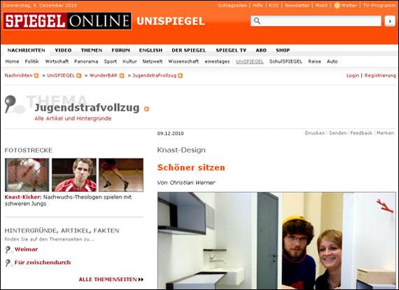 Screenshot Spiegel, Schöner sitzen