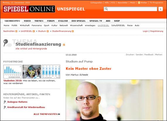 Screenshot spiegel.de