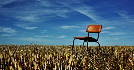 Landfrauen Feld Stuhl