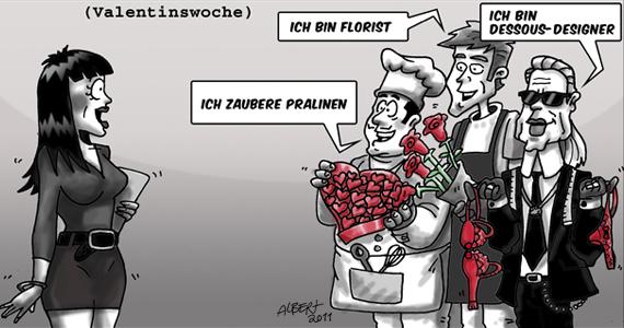 Mentine Valentinswoche comic