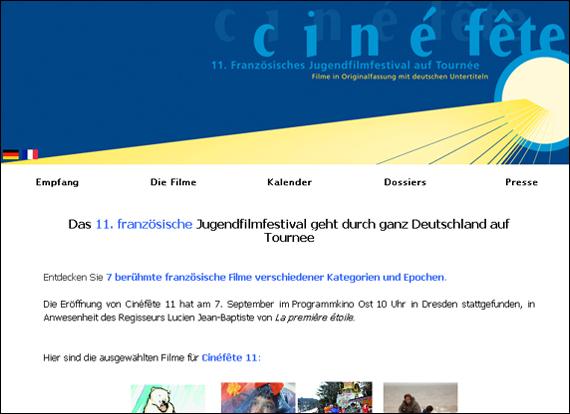 Screenshot kultur-frankreich, Jugendfilmfestival